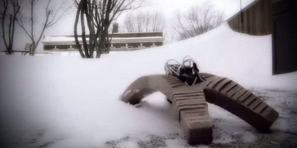 Rubbery Robot Fights Blazes, Snow And Gets Run Over