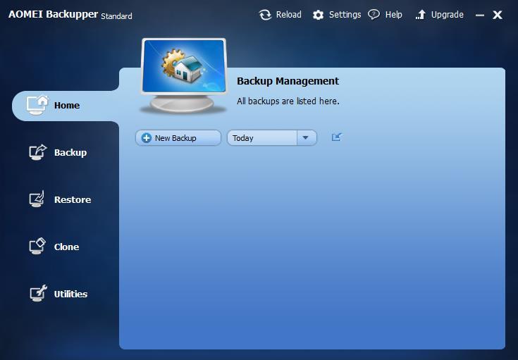 Free Backup Software: AOMEI Backupper Standard