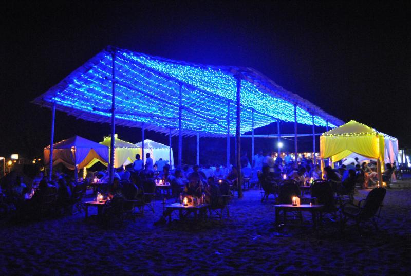 Goa Beach Parties at Night